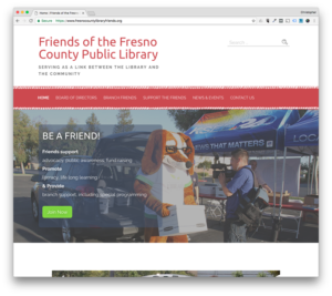 Web Design: Friends of the Fresno County Public Library