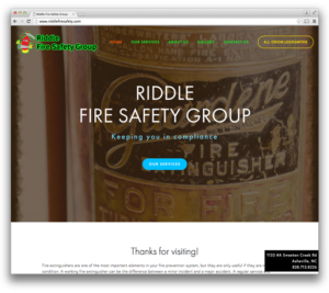 Web Design: Riddle Fire Safety Group