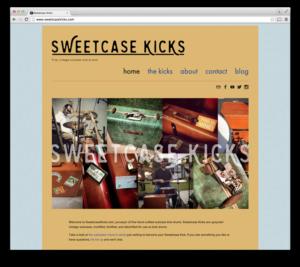 Web Design: Sweetcase Kicks