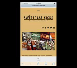 Mobile Web Design: Sweetcase Kicks
